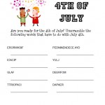 July 4th Word Scramble