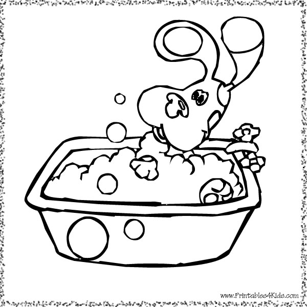 Blues Clues taking a bath coloring page : Printables for Kids – free ...