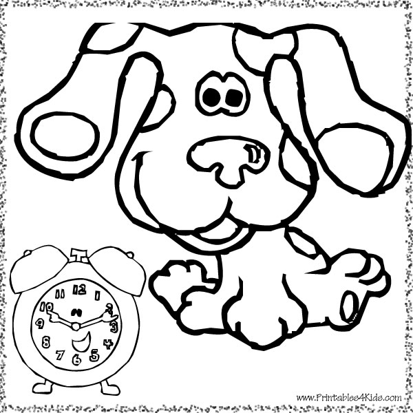 blues clues coloring page blues clues with tickety - Blues Clues Coloring Pages