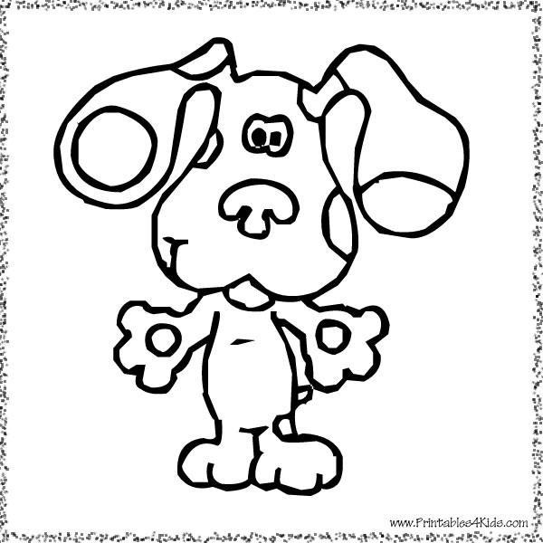 Blues clues for Blues clues magenta coloring pages