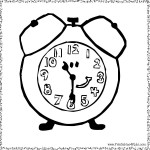 Blues Clues Tickety Clock coloring page