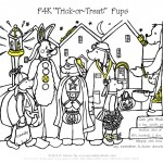 Printable Halloween Trick or Treat Hidden Pictures activity