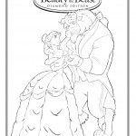 Beauty and the Beast Dancing Coloring Page