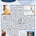 Beauty and the Beast Maze Activities
