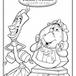 Beauty and the Beast Lumiere and Cogsworth Coloring Sheet