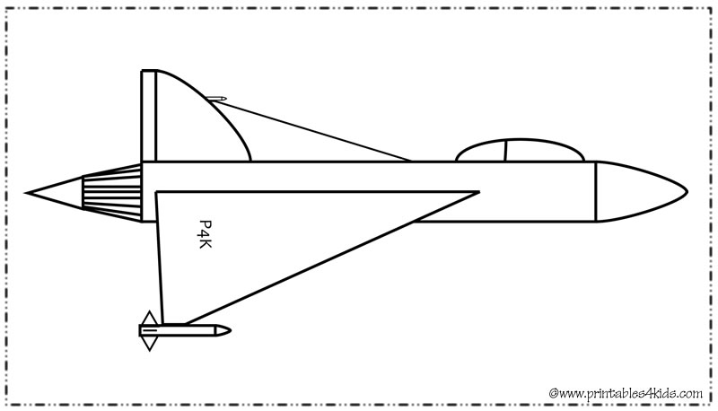 Jet Plane Airplane Coloring Page  Printables for Kids  free word