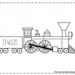 Train Coloring Page for boys