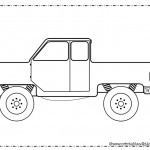 Truck coloring page for boys