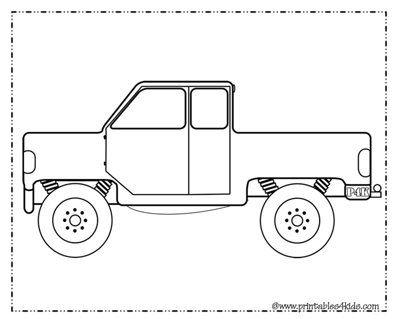fabulous truck coloring page for boys printables for kids