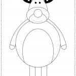 Cartoon Reindeer Coloring Page