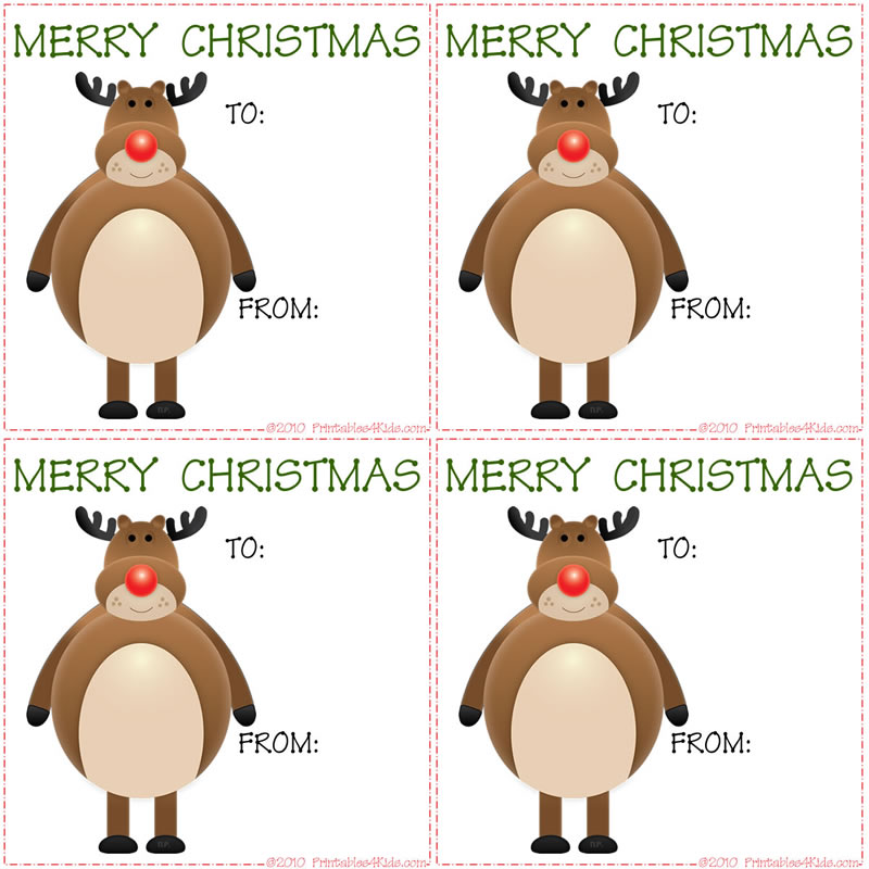 christmas reindeer gift tags printables for kids free word search puzzles coloring pages and other activities