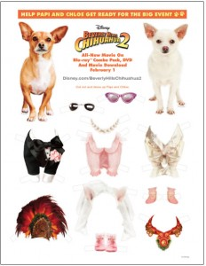 Beverly Hills Chihuahua 2 Printable Paper Dolls