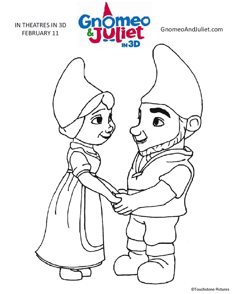 Gnomeo And Juliet Movie Printable Coloring Page Printables For Free Romeo And Juliet Coloring Pages