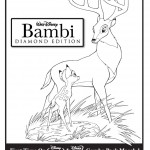 Bambi and Father Coloring Page