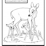 Bambi and Mother Coloring Page
