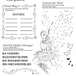 Printable Barbie A Fairy Secret Activity Sheet Happy Meal