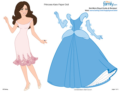 Printable Princess Kate Paper Doll Royal Wedding