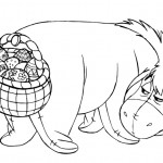 Printable Eeyore Easter Basket Coloring Page