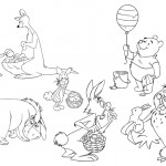 Printable Winnie the Pooh and Friends Easter Coloring Collection