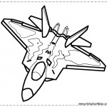 Fighter Jet Coloring Page