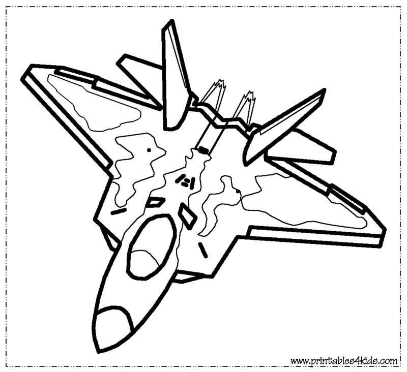 Free coloring pages for Fighter plane coloring pages