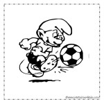 Smurf Soccer Coloring Page