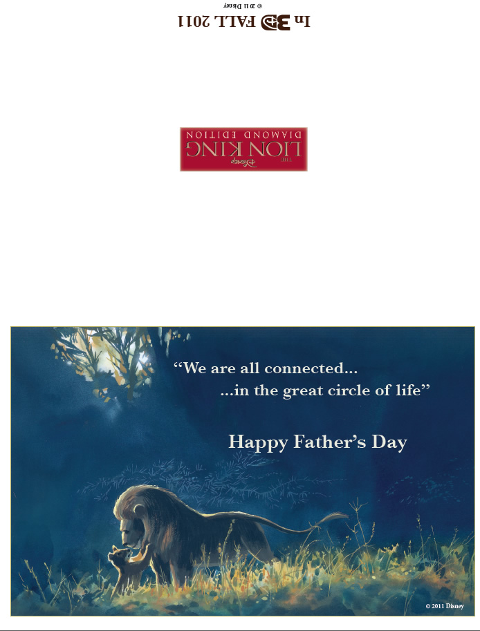 Lion King Fathers Day Card Printables