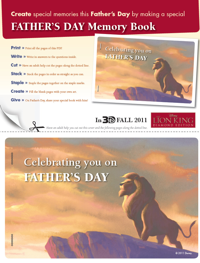Lion King Father s Day Scrapbook