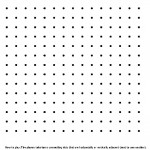 Blank Printable Dots and Lines Pencil Game