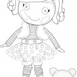 Lalaloopsy Mittens Fluff n Stuff coloring page
