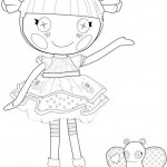 Lalaloopsy Blossom Flower Pot coloring page