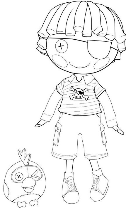 Lalaloopsy Patch Treasurechest coloring page : Printables for Kids ...