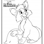 Fox Hound Coloring Page Tod