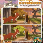 Fox and Hound Spot the Differences activity