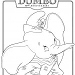 Classic Dumbo coloring page