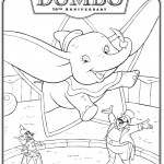 Printable Disney Dumbo coloring page