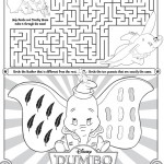 Disney Dumbo Maze printable