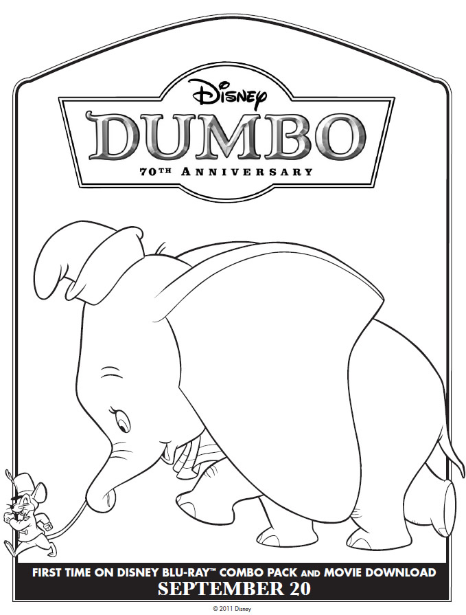 Dumbo Colouring Pages - Coloring Home | 895x679